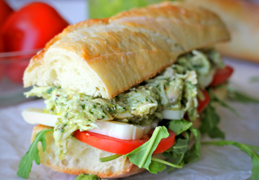 Chicken Pesto Sandwich Recipe |The Olive Crush