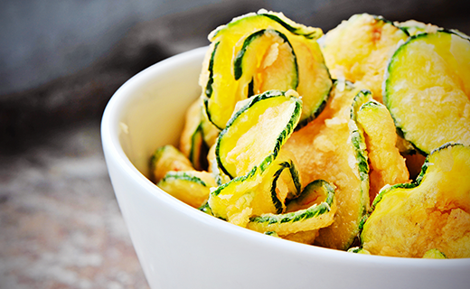 Zucchini Parmesan Chips Recipe | The Olive Crush