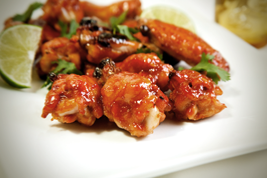 Baked Srirach Lime Chicken Wings Recipe from The Olive Crush