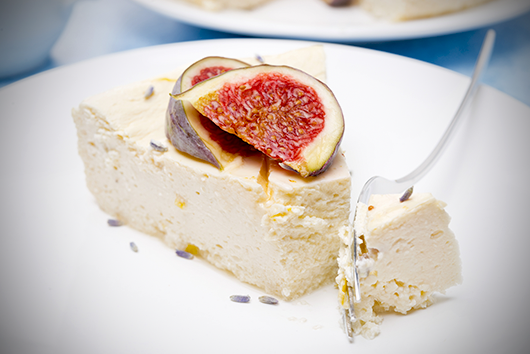 The Olive Crush Greek Yogurt Cheesecake with Ouzo-Poached Figs Recipe | Mediterranean Diet