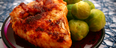 Paprika Chicken Thighs with Brussels Sprouts Recipe | The Olive Crush