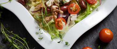 Chopped Greek Salad with Chicken Recipe | The Olive Crush